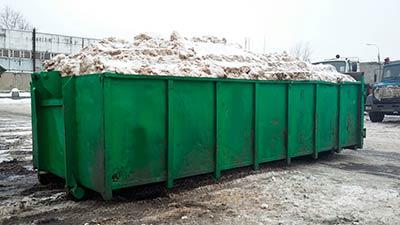 Перегруженный контейнер 20м3